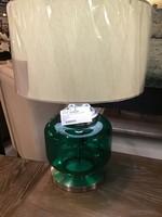 COASTER TABLE LAMP TEAL GLASS & CHROME
