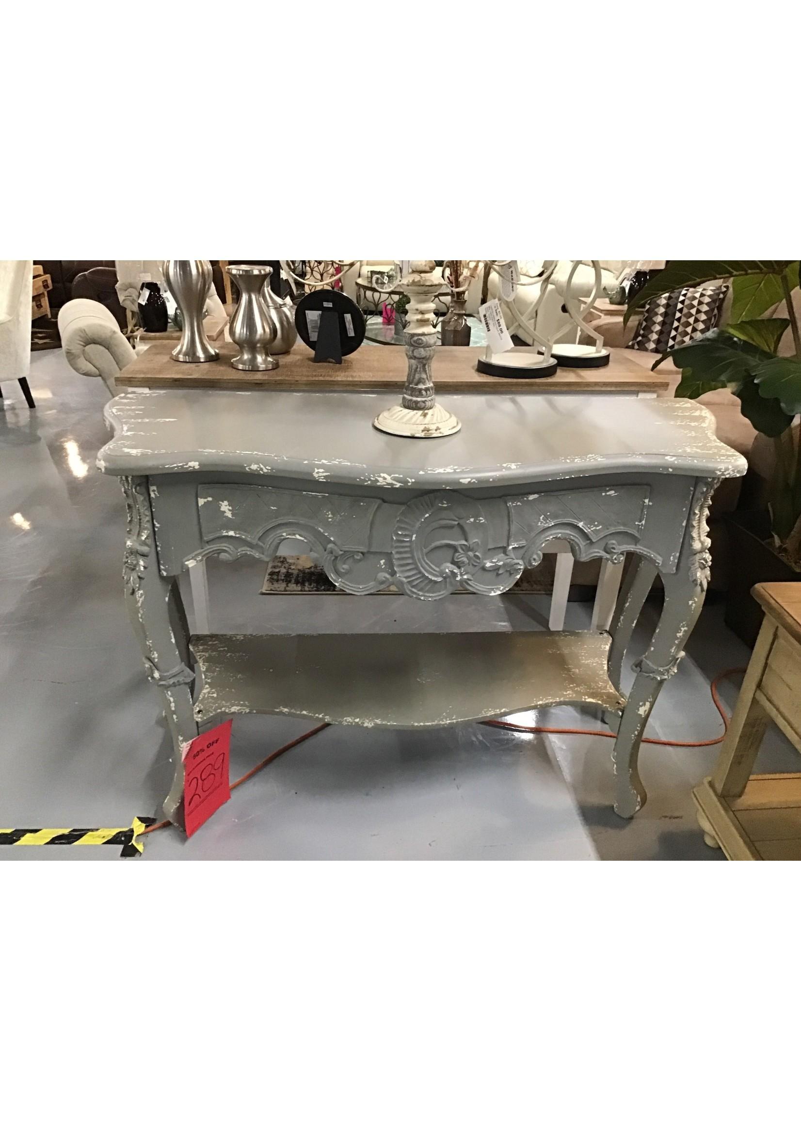 CREATIVE CO-OP DE5354 SOFA TABLE DISTRESSED GRAY