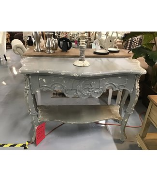 CREATIVE CO-OP SOFA TABLE DISTRESSED GRAY