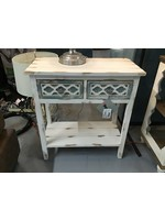 POWELL 14A2021 ACCENT CHEST AUBREY DISTRESSED WHITE/GREY