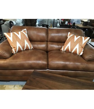 FLEXSTEEL 1127 30-90880 STATIONARY SOFA DYLAN LEATHER