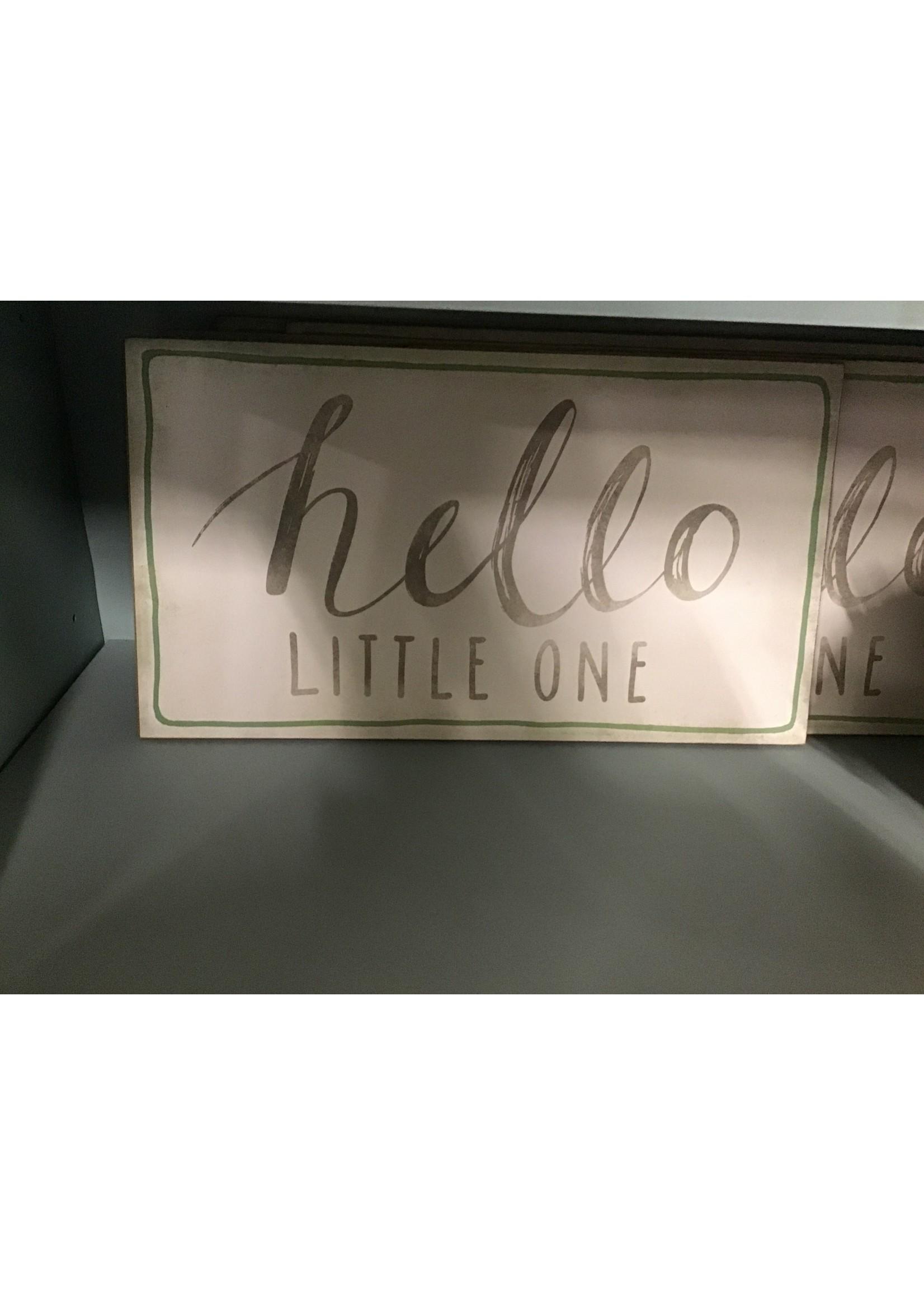"CREATIVE CO-OP DA8467 WALL DECOR ""HELLO LITTLE ONE"""
