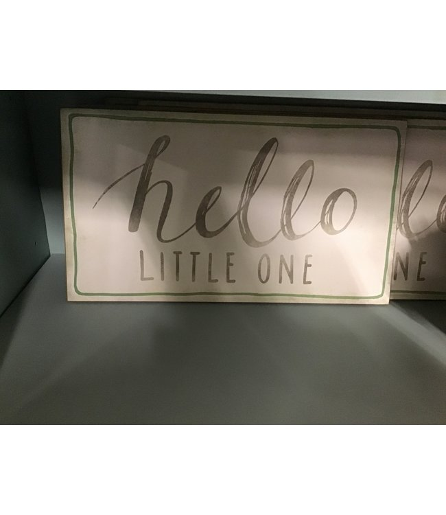 "CREATIVE CO-OP DA8467 WALL DECOR ""HELLO LITTLE ONE"""