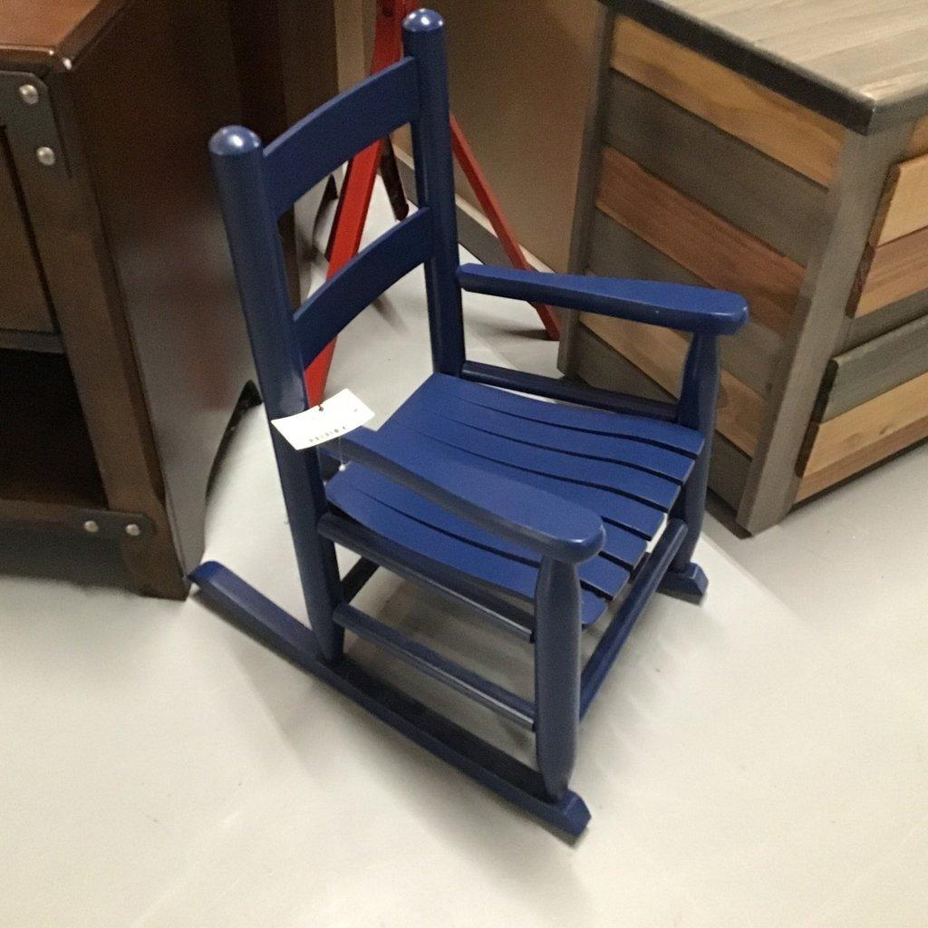 DIXIE SEATING CHILD ROCKER SLAT SEAT BLUE