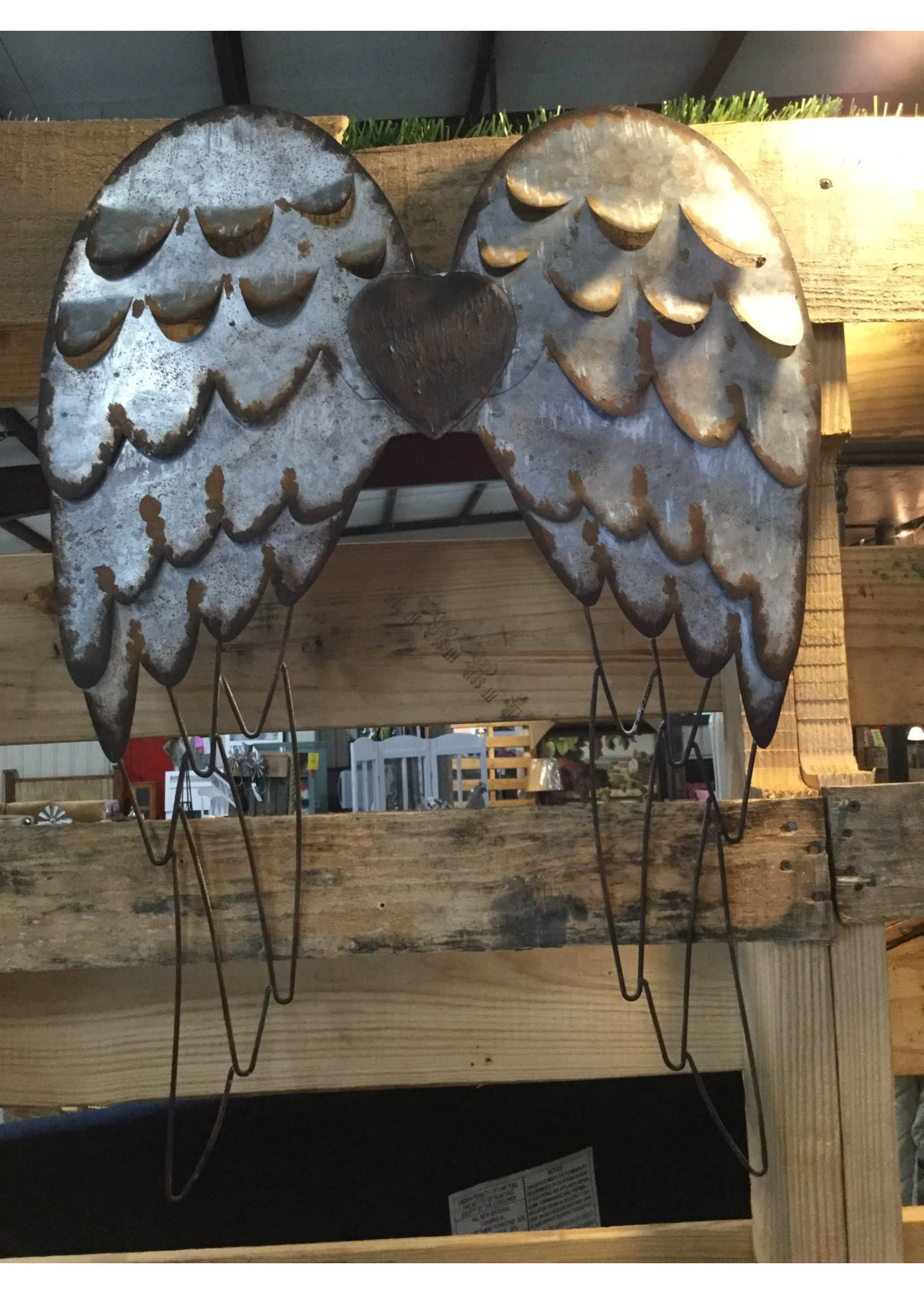 GIFTCRAFT WALL DECOR METAL WINGS