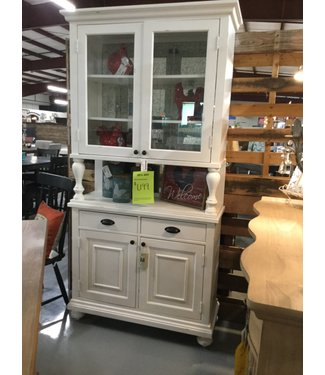 MAGNOLIA HOMES 6010129B/33B KITCHEN HUTCH/CABINET JO'S WHITE