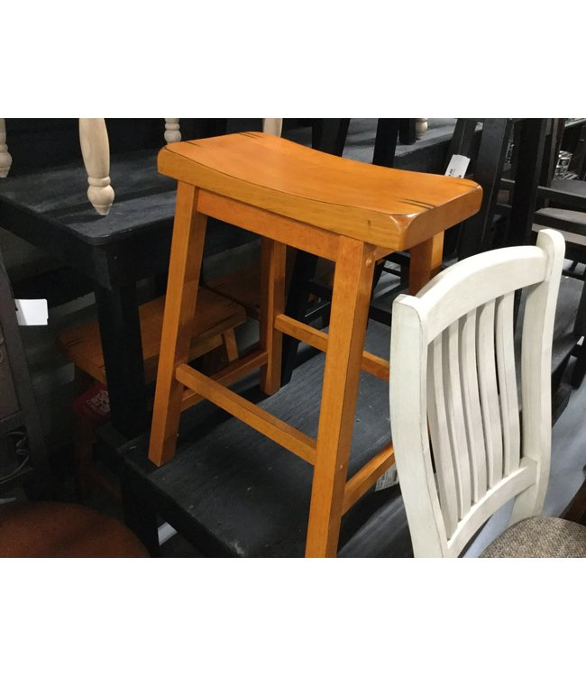 "COASTER GENEVA 24"" OAK BAR STOOL"