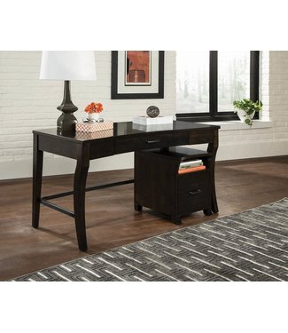 COASTER WRITING DESK SMOKEY BLACK