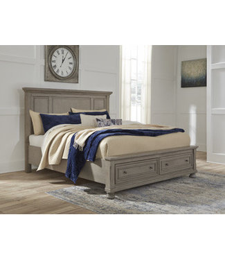 ASHLEY B733-58/76/99 6/6 STORAGE PANEL BED LETTNER LIGHT