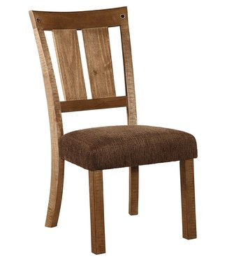ASHLEY D714-01 SIDE CHAIR TAMILO WEATHERED HONEY