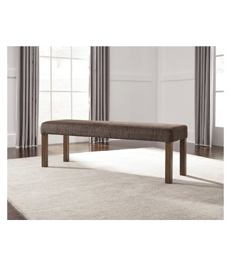 ASHLEY D714-00 BENCH UPH TAMILO BROWN