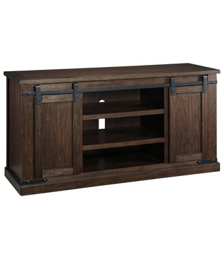 ASHLEY TV CONSOLE BUDMORE BROWN