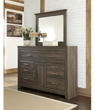 ASHLEY JUARARO MIRROR IN DARK BROWN VINTAGE