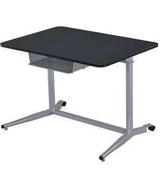 COASTER 800652 WRITING DESK ADJUSTABLE BLACK/SILVER