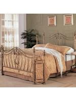 COASTER SYDNEY QUEEN ANTIQUE BRUSHED GOLD METAL BED