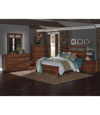 PERDUEWOOD CYPRESS GROVE DRESSER & MIRROR IN RUSTIC PLANK