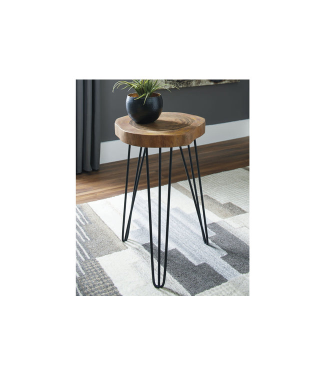 ASHLEY A4000080 ACCENT TABLE EVERSBORO WOOD/METAL