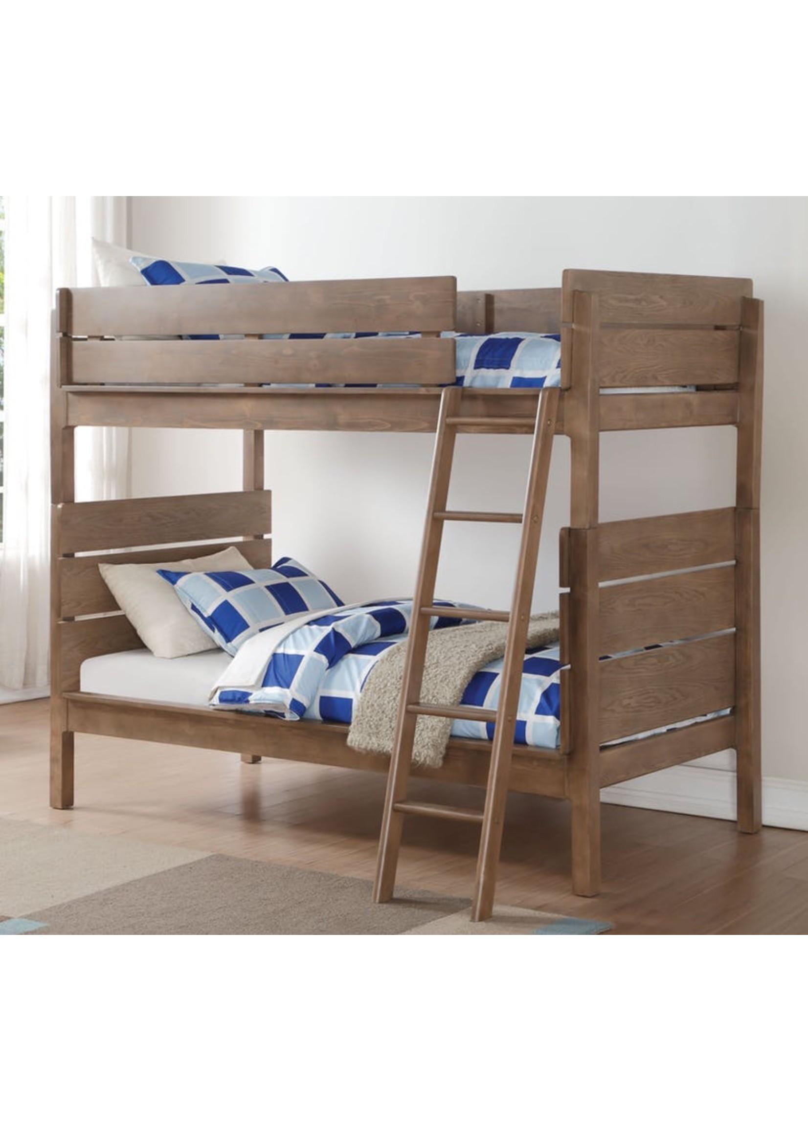 ACME RANTA BUNK BED IN ANTIQUE OAK FINISH