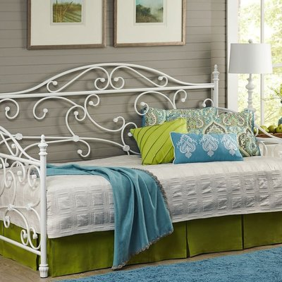 LARGO 1276/351L METAL DAYBED W/TOP SPRING WHITE SAND