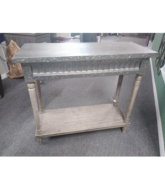 GANZ 158737 CONSOLE TABLE GALVANIZED METAL