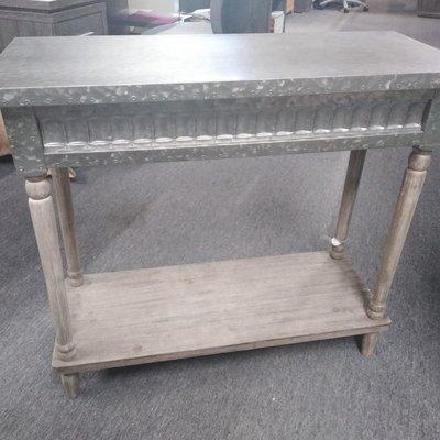 GANZ 158737 CONSOLE TABLE GALVANIZED METAL