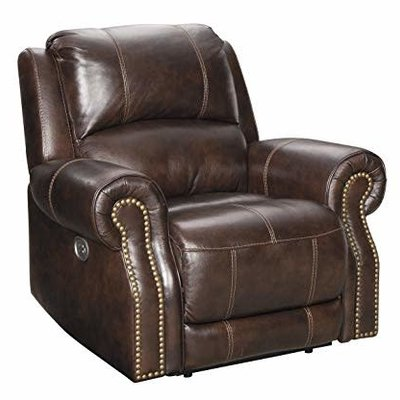 ASHLEY U8460413 POWER RECLINER BUNCRANA CHOCOLATE LEATHER MATCH