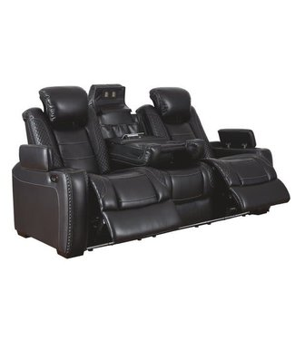 ASHLEY 3700315 PWR RECLINING SOFA PARTY TIME MIDNIGHT