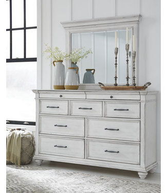 ASHLEY DRESSER KANWYN WHITEWASH