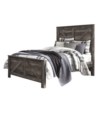 ASHLEY B440-54/57/98 5/0 PANEL BED WYNNLOW GRAY QUEEN