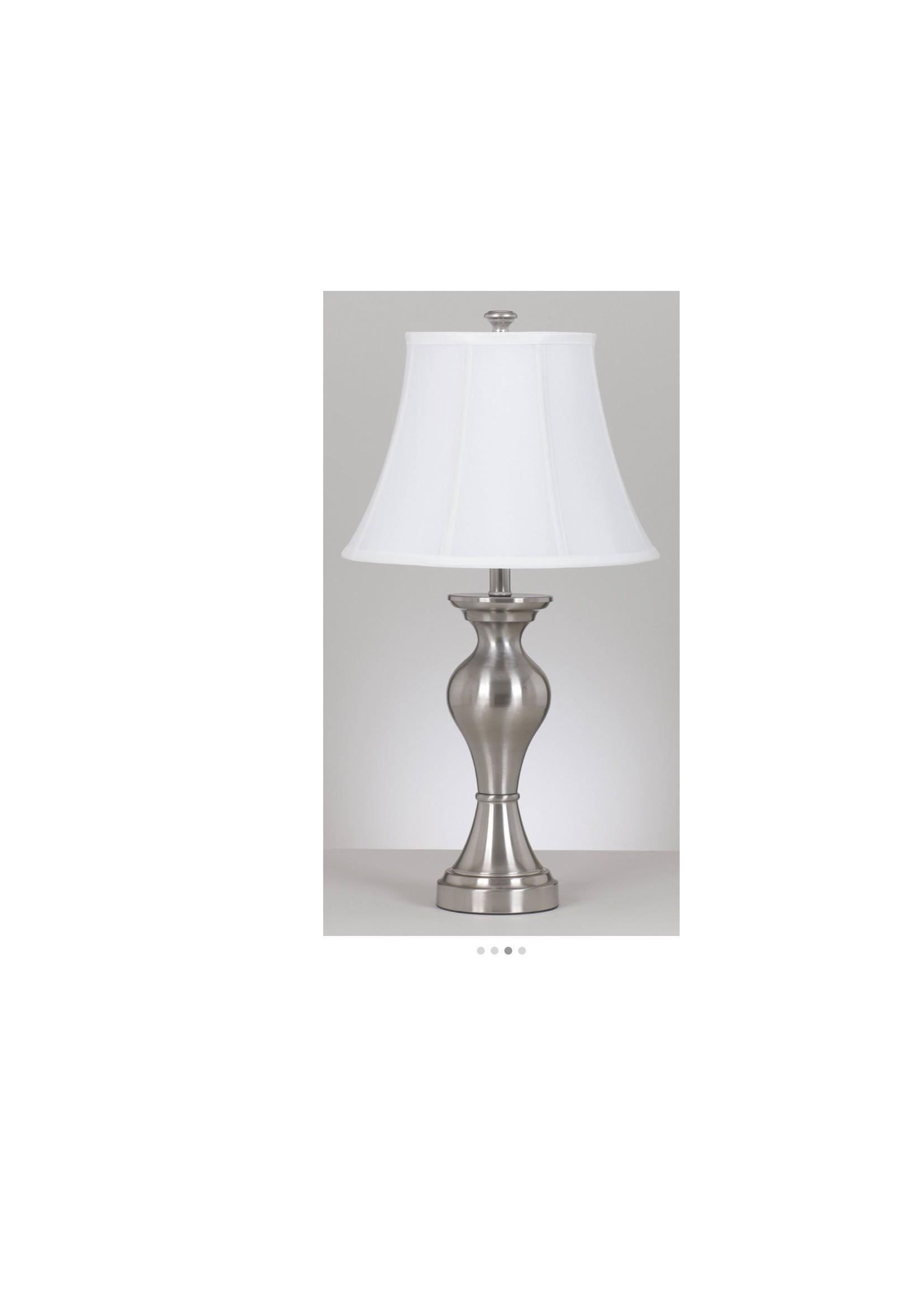 ASHLEY RISHONA TABLE LAMP IN SILVER