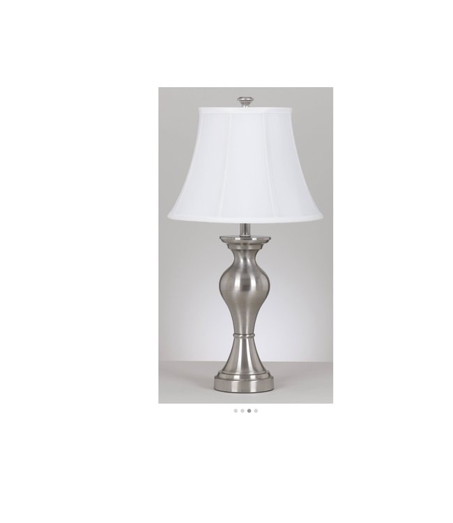 ASHLEY RISHONA TABLE LAMP IN SILVER