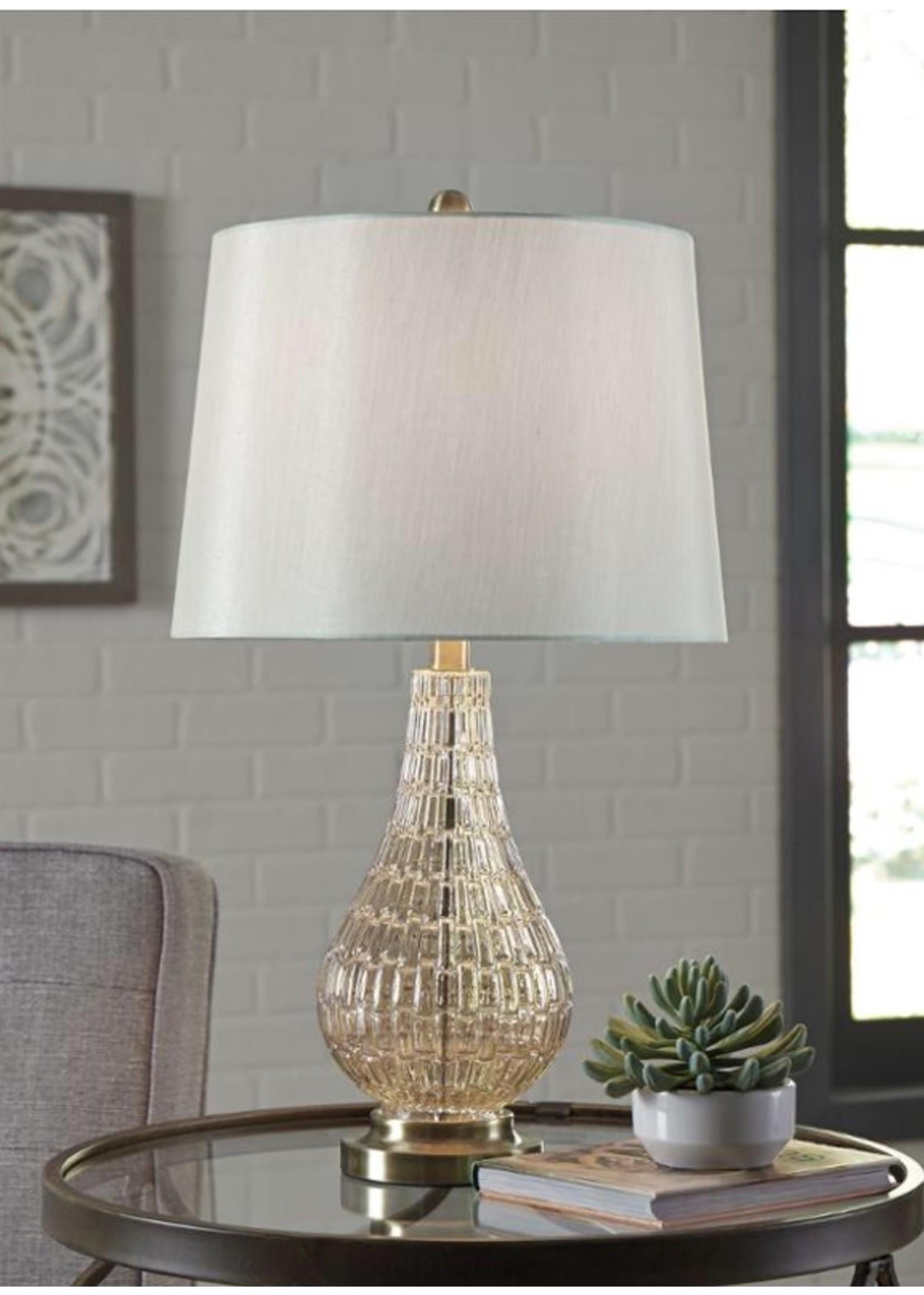 ASHLEY LATOYA TABLE LAMP IN CHAMPAGNE