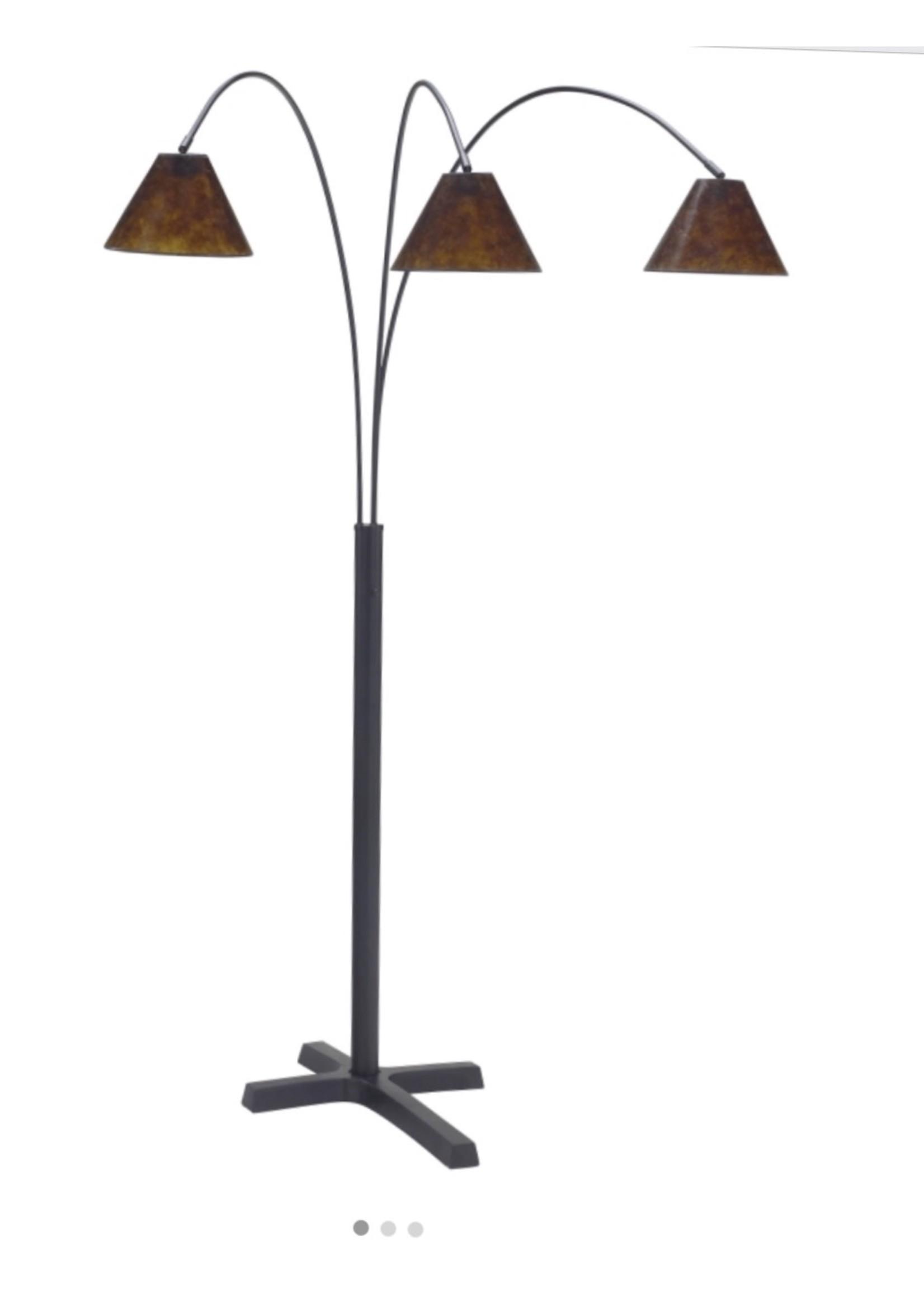 ASHLEY SHARDE ARC FLOOR LAMP MATTE BLACK