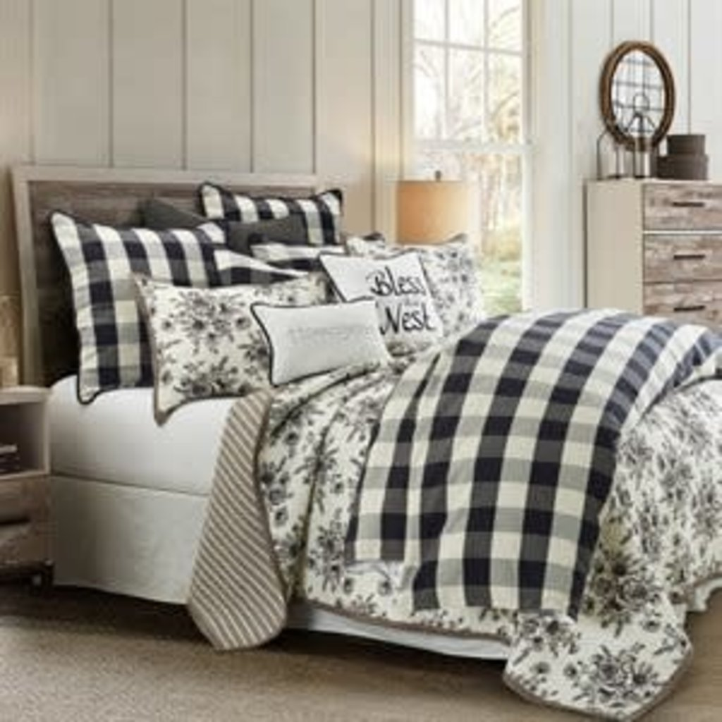 HIEND ACCENTS FB1778-SQ-BK 5/0 COMFORTER SET 3PC CAMILLE