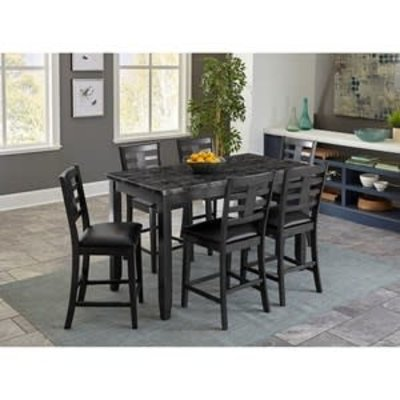 STANDARD 10276 COUNTER HIGH TABLE W/4 CHAIRS CANAAN
