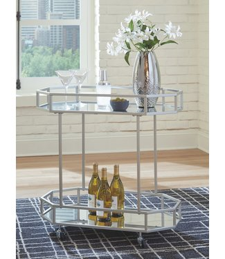 ASHLEY KADINBURG BAR CART IN SILVER