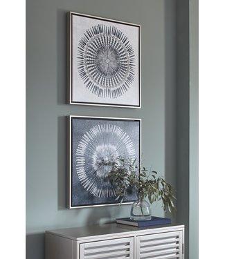ASHLEY A8000155 WALL ART SET MONTEREY BLUE/WHITE