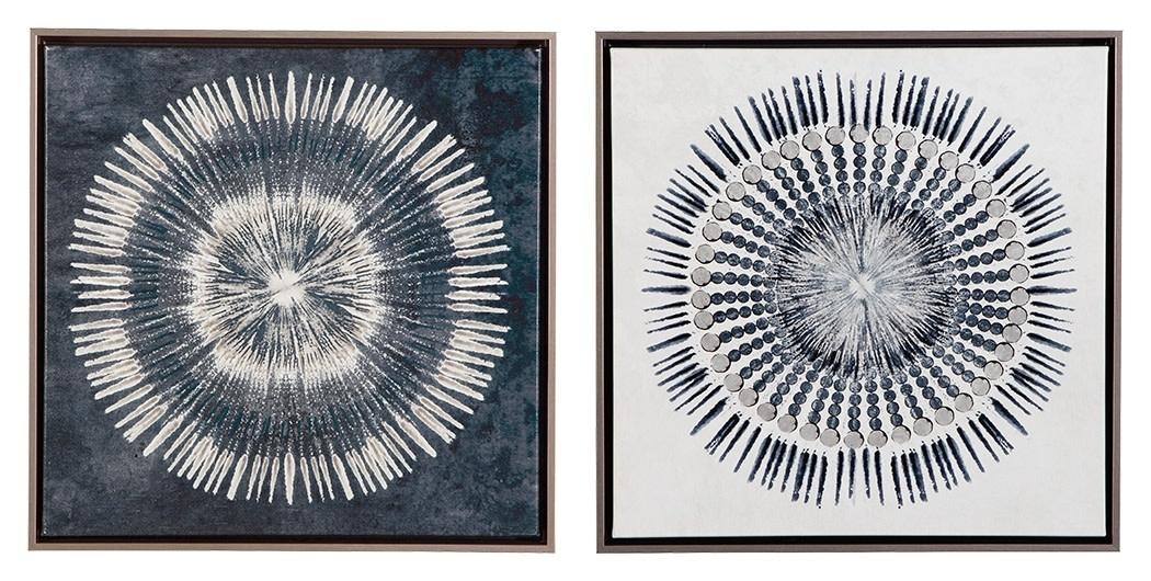 A8000155 WALL ART SET MONTEREY BLUE/WHITE