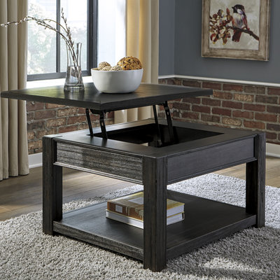 ASHLEY T732-0 LIFT TOP COCKTAIL TABLE GAVELSTON BLACK