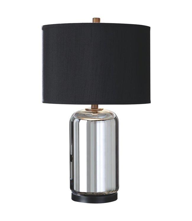 ASHLEY MIRINDA TABLE LAMP IN SILVER GLASS