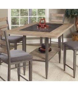 ELEMENTS D312-35 COUNTER TILE TABLE RIVER LOFT RUSTIC OAK/METAL