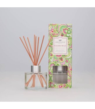 GREENLEAF GIFTS Signature Reed Diffuser Cucumber Lilly