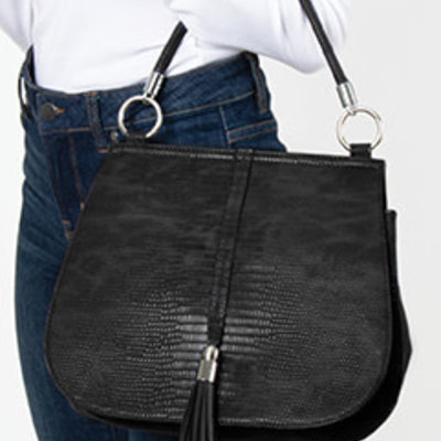 SIMPLY NOELLE HB-4101A SHOULDER BAG SNAKESKIN