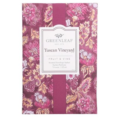 GREENLEAF GIFTS GLG900521 SACHET LARGE TUSCAN VINEYARD