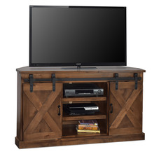 """LEGENDS FH1312-AWY CORNER TV CONSOLE 56"""" AGED WHISKEY"""