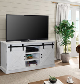 "LEGENDS FH1460-JWT TV CONSOLE 66"" JASMINE WHITE"