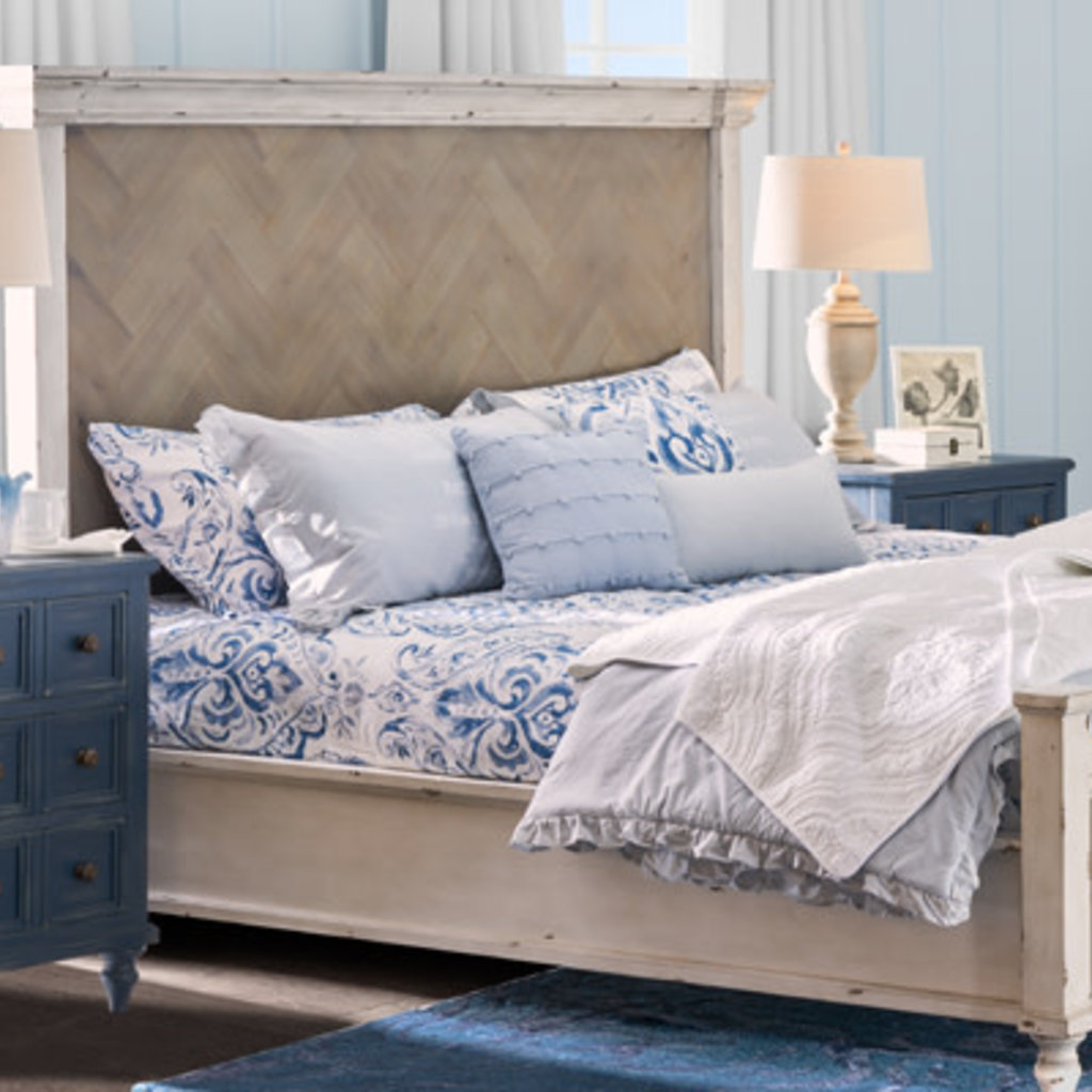 Legends Zlgv 7103 7104 7105 6 6 Panel Bed Laurel Grove Parquet Panel Low Country White