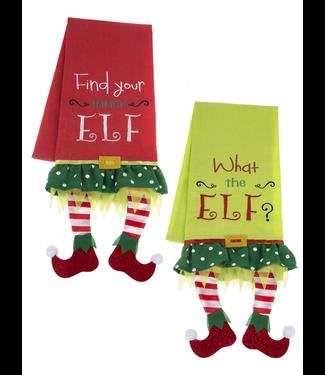 GANZ EX27021 ELF LEG TOWELS LINEN