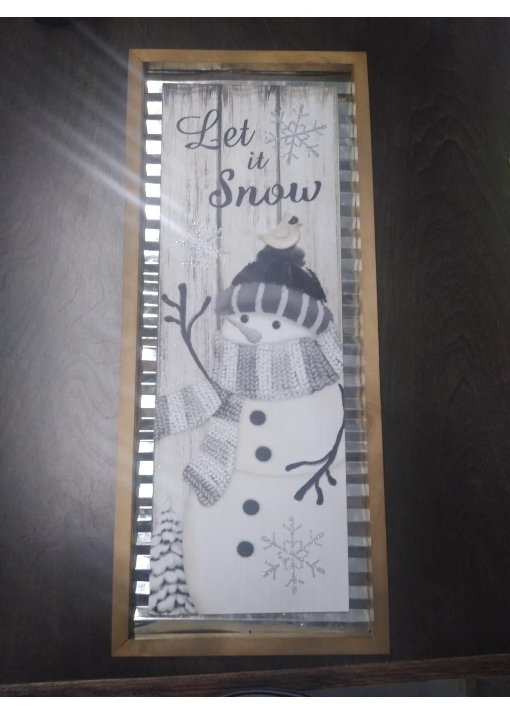 GANZ EX25294 WALL DECORATION LET IT SNOW