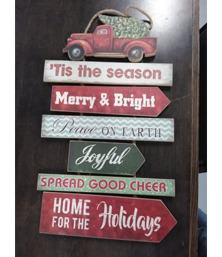 GANZ EX20939 CHRISTMAS PRINT SIGN TIS THE SEASON